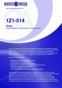Oracle Database 11g Essentials for Implementors - Pass4Sure