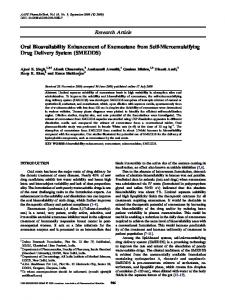 Oral Bioavailability Enhancement of Exemestane from Self ...