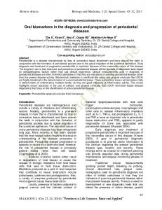 Oral biomarkers in the diagnosis and progression of periodontal ...