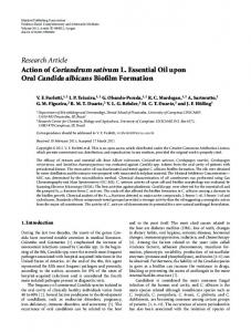Oral Candida albicans Biofilm Formation - CiteSeerX