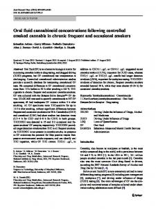 Oral fluid cannabinoid concentrations following controlled smoked ...