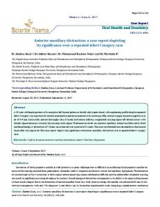 Oral Health and Dentistry