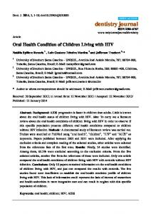 Oral Health Condition of Children Living with HIV - Semantic Scholar