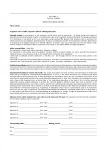Oral Health & Preventive Dentistry MANDATORY SUBMISSION ...