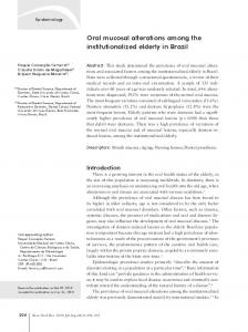 Oral mucosal alterations among the