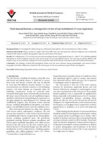 Oral mucosal lesions: a retrospective review of one