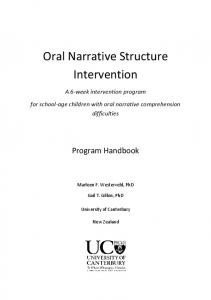 Oral Narrative Structure Intervention