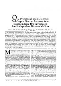 oral Propranolol and Metoprolol Both Impair Glucose ... - Diabetes Care