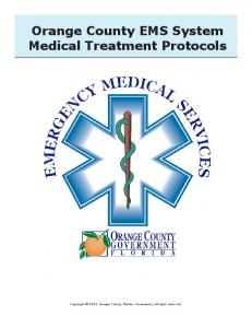 Orange County EMS System Medical Treatment ...