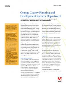 Orange County Planning & Development Services Dept - Adobe