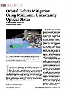 Orbital Debris Mitigation Using Minimum Uncertainty ... - IEEE Xplore