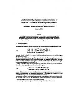Orbital stability of ground state solutions of coupled ... - Semantic Scholar