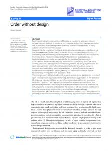 Order without design - BioMedSearch