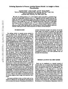 Ordering Dynamics in Neuron Activity Pattern Model: An insight to ...