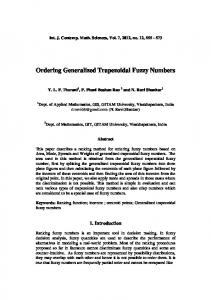 Ordering Generalized Trapezoidal Fuzzy Numbers - Semantic Scholar