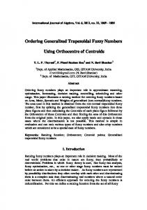 Ordering Generalized Trapezoidal Fuzzy Numbers