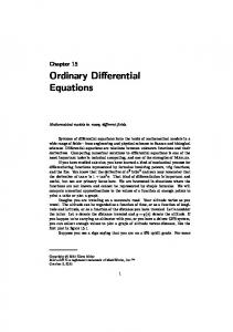 Ordinary Differential Equations (53 pages)