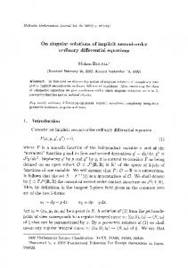 ordinary differential equations - Project Euclid
