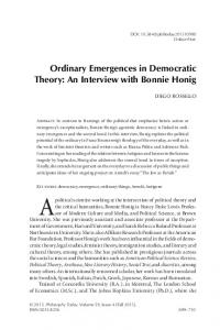 Ordinary Emergences in Democratic Theory: An ...