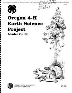 Oregon 4-H Earth Science Project - Oregon State University