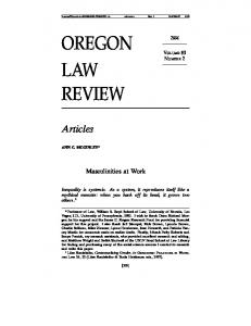oregon law review - SSRN papers