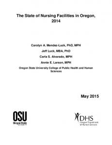 Oregon Nursing Facilities Report - State of Oregon