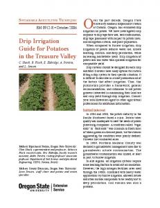 Oregon State University Extension Service - NRCS Irrigation ToolBox