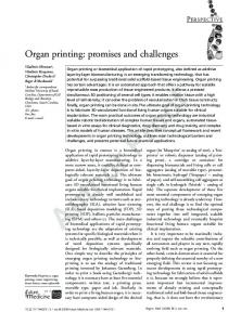 Organ printing: promises and challenges