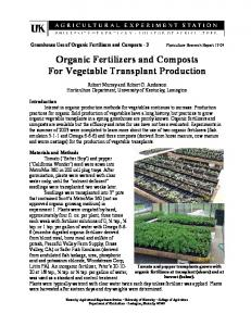 Organic Fertilizers and Composts - University of Illinois Extension