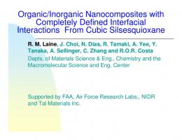 Organic/Inorganic Nanocomposites with Completely Defined ...