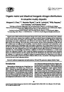 Organic matter and dissolved inorganic nitrogen ... - CiteSeerX