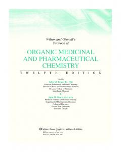 organic medicinal and pharmaceutical chemistry - LWW.com