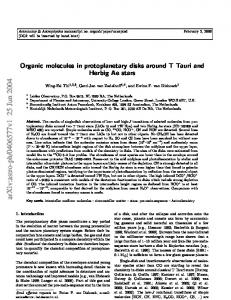 Organic molecules in protoplanetary disks around T Tauri and Herbig ...