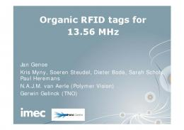 Organic RFID tags for 13.56 MHz