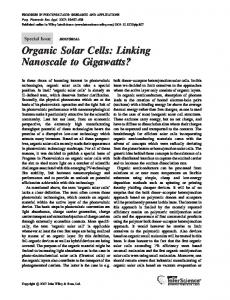 Organic solar cells: linking nanoscale to ... - Wiley Online Library