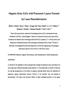Organic Solar Cells with Plasmonic Layers Formed by Laser ...
