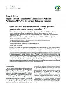 Organic Solvent's Effect in the Deposition of Platinum Particles on ...