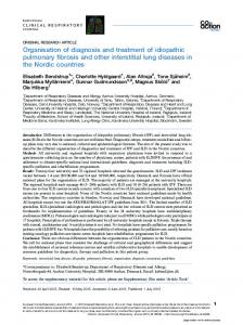 Organisation of diagnosis and treatment of idiopathic pulmonary
