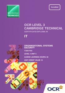 Organisational systems security
