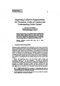 Organising Collective Responsibility: On Precaution, Codes of ...