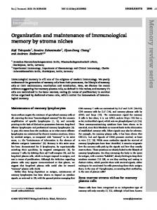 Organization and maintenance of ... - Wiley Online Library