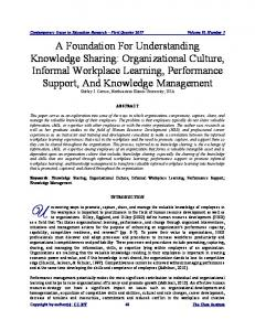 Organizational Culture, Informal Workplace Learning ... - Eric