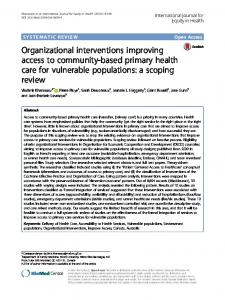 Organizational interventions improving access to ... - Semantic Scholar