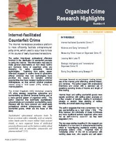Organized Crime Research Highlights