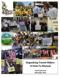Organizing Transit Riders: A How-To Manual