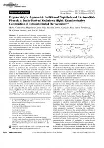 Organocatalytic Asymmetric Addition of Naphthols and ElectronRich ...