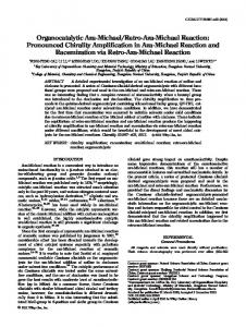 Organocatalytic azaMichael/retroazaMichael reaction ...