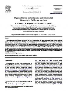 Organochlorine pesticides and polychlorinated biphenyls in California ...