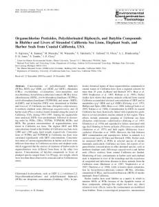 Organochlorine Pesticides, Polychlorinated Biphenyls ... - Springer Link