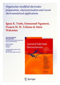 Organoclay-modified electrodes: preparation
